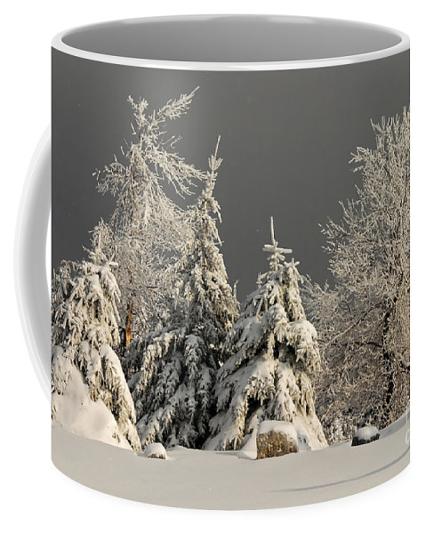 Winter Coffee Mug featuring the photograph Here Comes The Sun by Lois Bryan