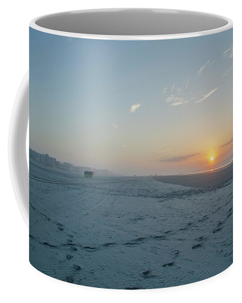 Here Coffee Mug featuring the photograph Here Comes The Sun - Wildwood Crest by Bill Cannon
