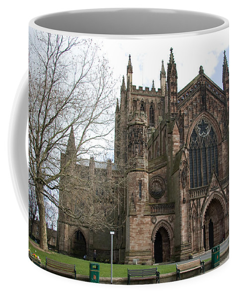 Cathedral Coffee Mug featuring the photograph Hereford Cathedral England by Bob Kemp