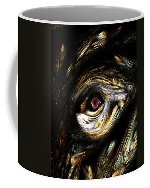Abstract Digital Painting Coffee Mug featuring the digital art Here's Looking At You by David Lane