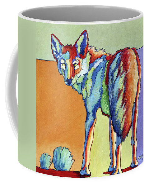 Coyote Coffee Mug featuring the painting Here's Looking At You by Rose Collins