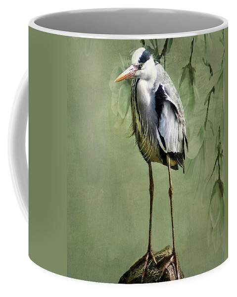 Heron Coffee Mug featuring the photograph Heron Egret Bird by Movie Poster Prints