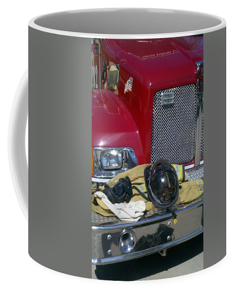 American Firefighters Fire Truck Heros Coffee Mug featuring the photograph Heros 1 by D G Reiter