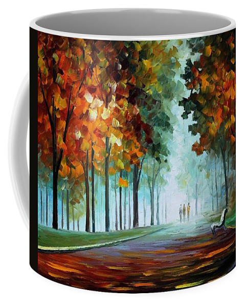 Afremov Coffee Mug featuring the painting Heros From The Fog by Leonid Afremov