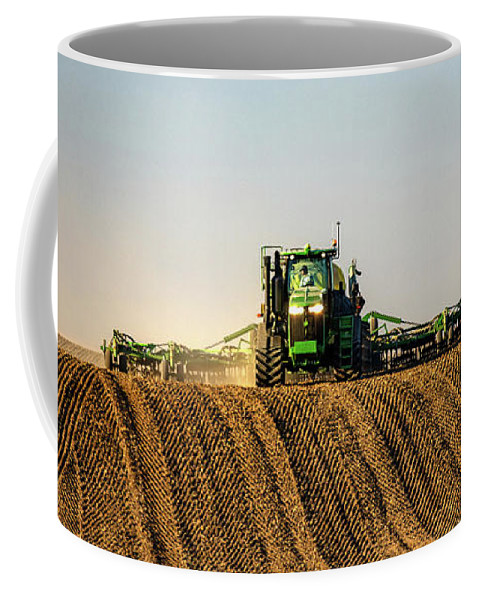Organic Coffee Mug featuring the photograph Herringbone Sowing by Todd Klassy