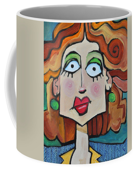 Herringbone Coffee Mug featuring the painting Herringbone by Tim Nyberg