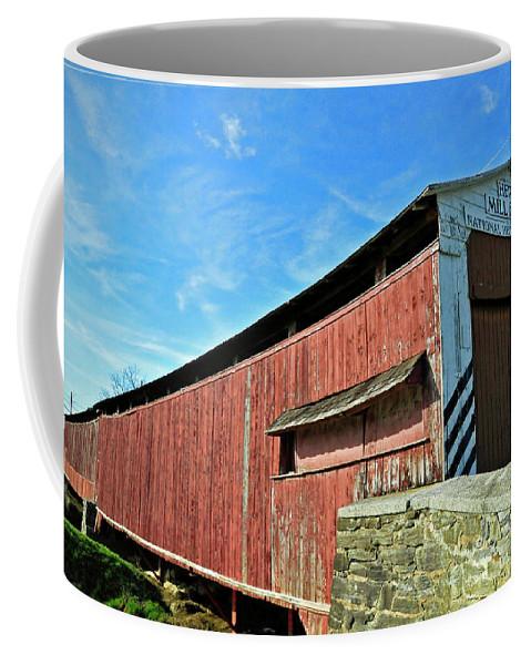 Covered Bridge Coffee Mug featuring the photograph Herrs Mill Bridge by David Arment