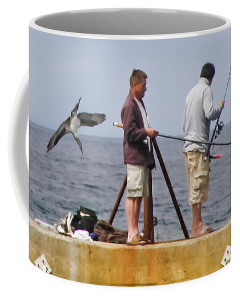 Bird Coffee Mug featuring the photograph He's Behind You by Terri Waters