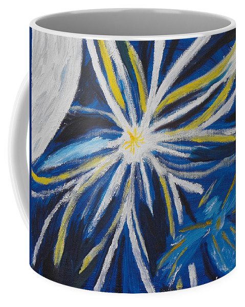 Moon Coffee Mug featuring the painting Hey Moon by Ginger Repke