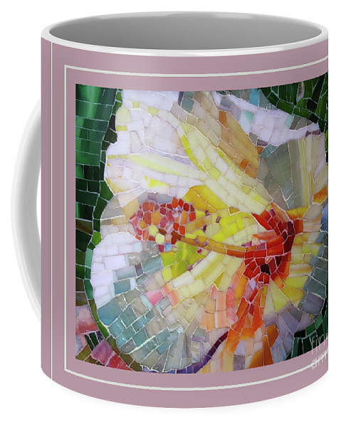 Hibiscus Coffee Mug featuring the mixed media Hibiscus #3 by Adriana Zoon