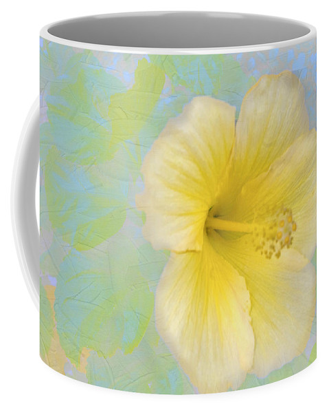 Flower Coffee Mug featuring the photograph Hibiscus In The Clouds by Ches Black