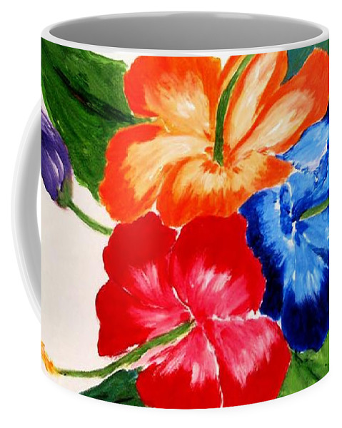 Hibiscus Coffee Mug featuring the painting Hibiscus by Jamie Frier