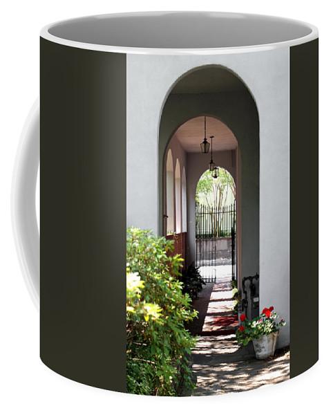 Charleston Coffee Mug featuring the photograph Hidden Corridor by Jean Haynes