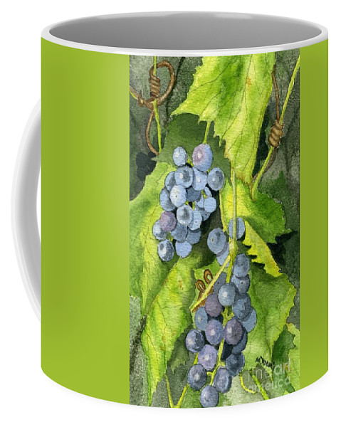 Frog Coffee Mug featuring the painting Hidden IIi Part 2 by Mary Tuomi