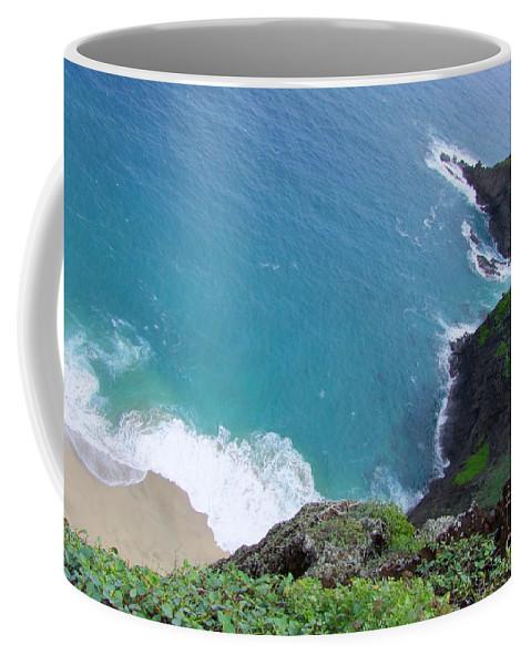 Blue Coffee Mug featuring the photograph Hidden Kilauea Beach by Mary Deal