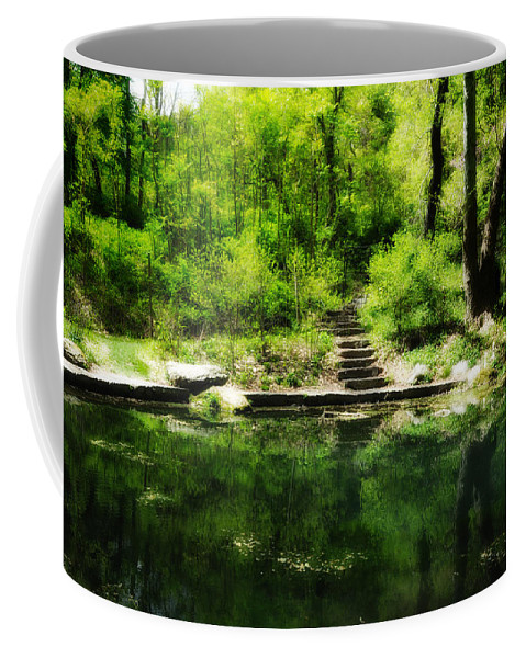 Pond Coffee Mug featuring the photograph Hidden Pond At Schuylkill Valley Nature Center by Bill Cannon