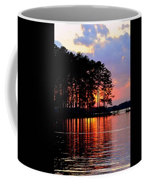 Hidden Sunrise Coffee Mug featuring the photograph Hidden Sunrise by Lisa Wooten