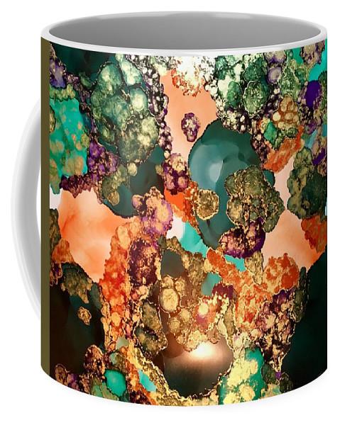 Abstract Coffee Mug featuring the mixed media Hidden Treasure by Greta Paganelli