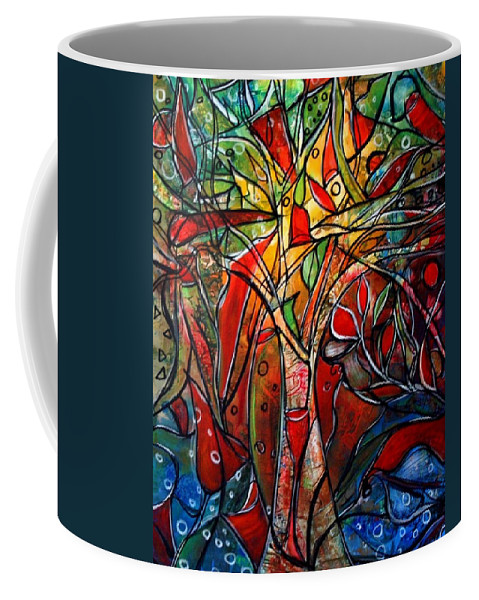Landscape Coffee Mug featuring the painting Hidden Treasure by Luiza Vizoli