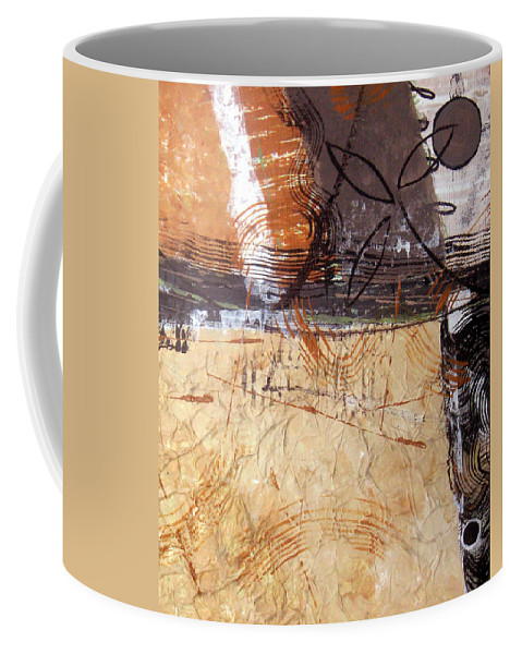 Abstract Coffee Mug featuring the painting Hidden Treasures II by Ruth Palmer