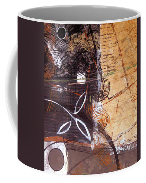 Abstract Coffee Mug featuring the painting Hidden Treasures by Ruth Palmer