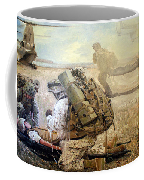Military Art Coffee Mug featuring the painting Hidden Wings by Todd Krasovetz