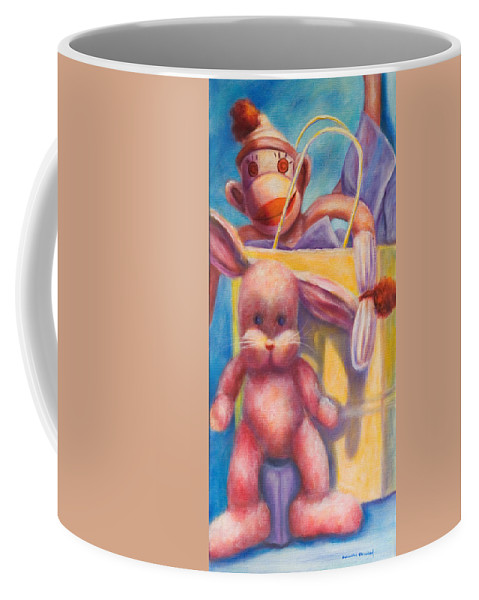 Children Coffee Mug featuring the painting Hide And Seek by Shannon Grissom