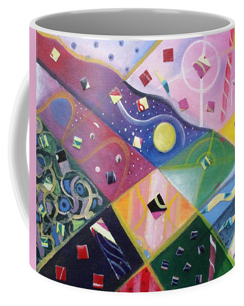 People And Pets Coffee Mug featuring the painting Hiding In Plain Sight by Helena Tiainen