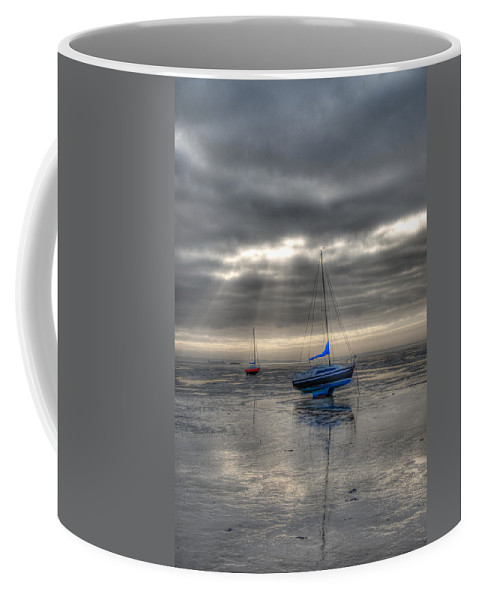 Yachts Coffee Mug featuring the photograph High And Dry by Chris Thaxter