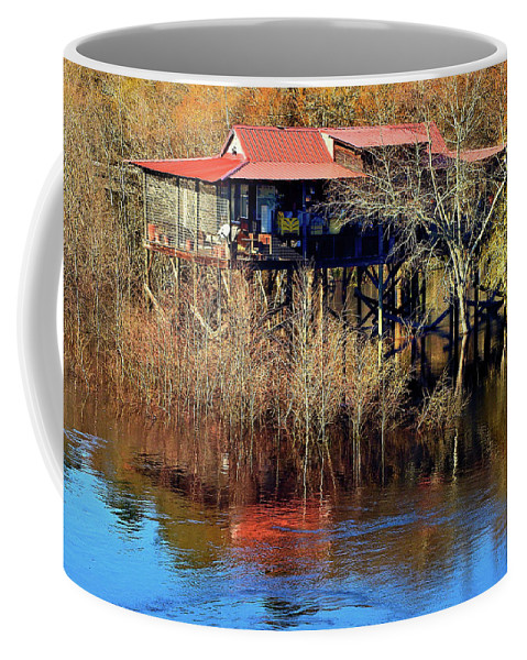 Satilla Coffee Mug featuring the photograph High And Dry by Laura Ragland