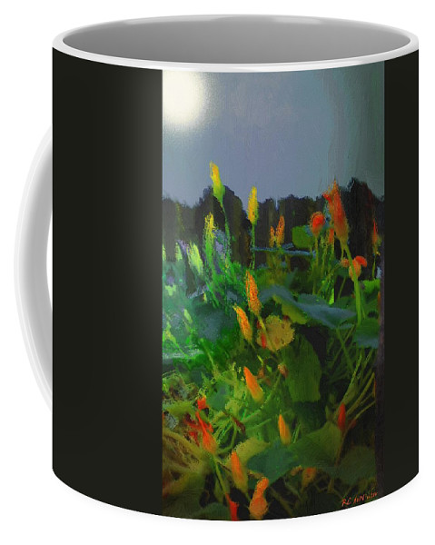 Blossoms Coffee Mug featuring the painting High As An Elephant's Eye by RC DeWinter