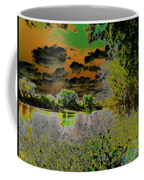Landscape Coffee Mug featuring the photograph High Contrast River Sunset by Flo DiBona