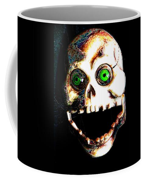 Digital Coffee Mug featuring the digital art Manny Tappaferris by Steven Scanlon