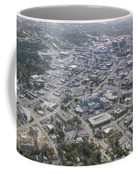 High Point Coffee Mug featuring the photograph High Point Nc Aerial by Robert Ponzoni