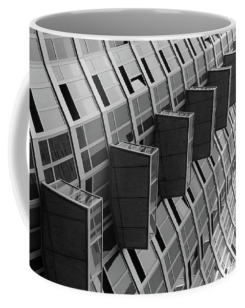Abstract Architectural Photography Coffee Mug featuring the photograph High Rise - June 1 2016 - Long Island City by Les Goldberg