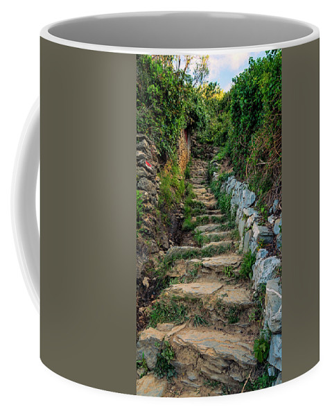 Joan Carroll Coffee Mug featuring the photograph Hiking In Cinque Terre Italy by Joan Carroll
