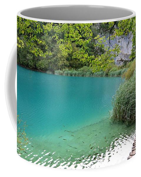 Kaluderovac Lake Coffee Mug featuring the photograph Hiking Kaluderovac Lake by Two Small Potatoes