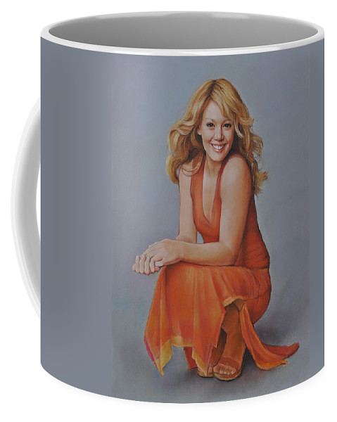 Actress Coffee Mug featuring the pastel Hilary Duff by Iliyan Bozhanov