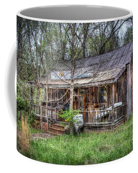 Abandoned Coffee Mug featuring the digital art Hill House by Dan Stone