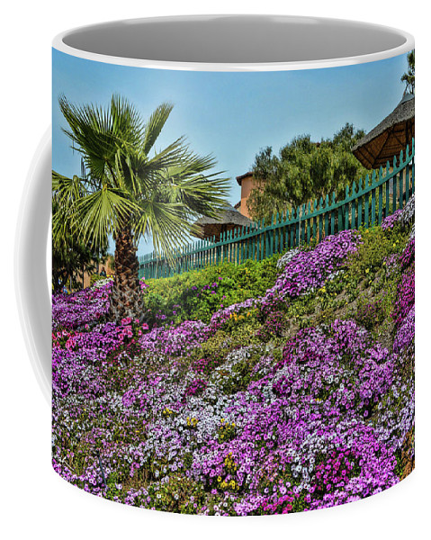 Flowers Coffee Mug featuring the photograph Hill Of Flowers by Tommy Anderson