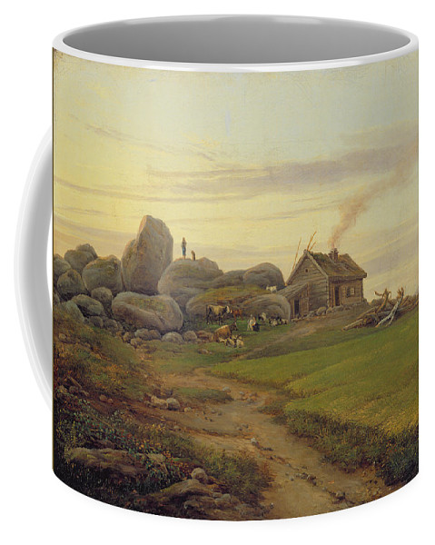Hill Coffee Mug featuring the painting Hill Top by Heinrich Stuhlmann