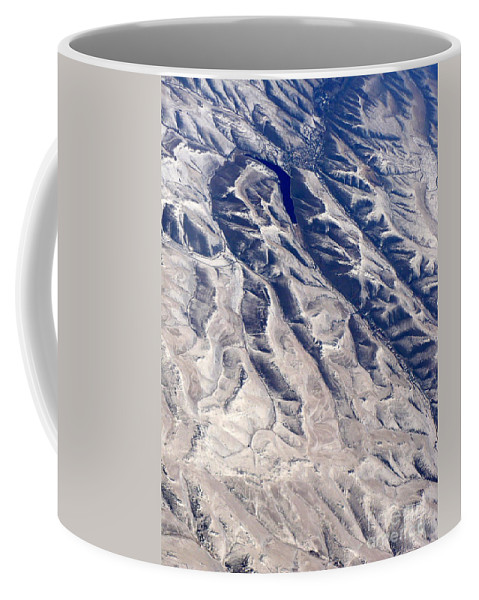 Aerial Coffee Mug featuring the photograph Hills And Valleys Aerial by Carol Groenen