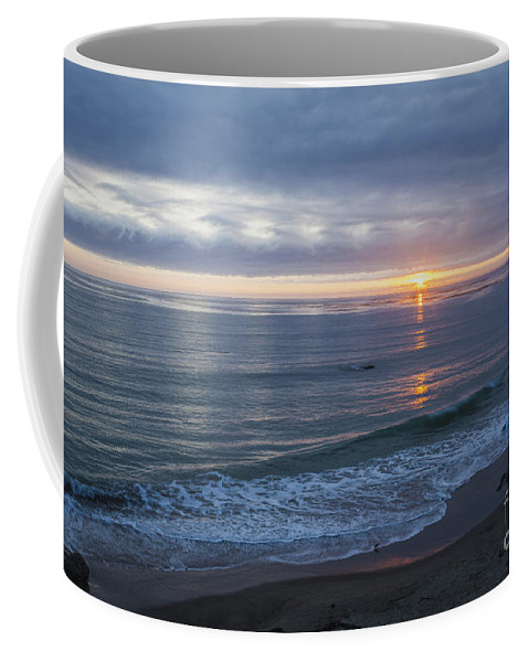 Clouds Coffee Mug featuring the photograph Hills Of Clouds With Ocean Sunset by Sharon Foelz