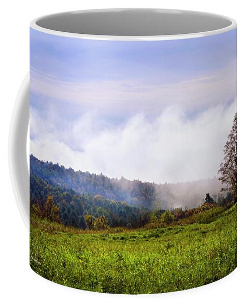 Hilltop Coffee Mug featuring the photograph Hilltop Fog Sunrise Landscape by Christina Rollo