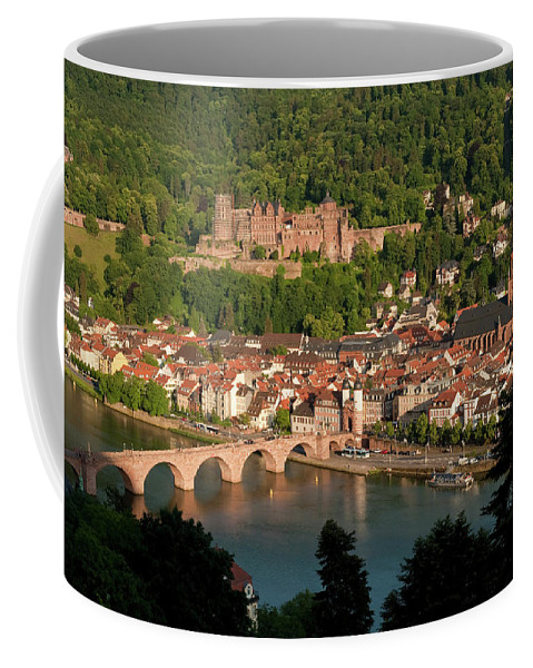 Color Image Coffee Mug featuring the photograph Hilltop View - Heidelberg Castle by Greg Dale