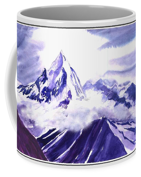 Landscape Coffee Mug featuring the painting Himalaya by Anil Nene