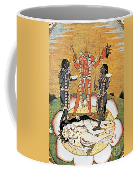 Coffee Mug featuring the painting Hindu Goddess: Kali by Granger