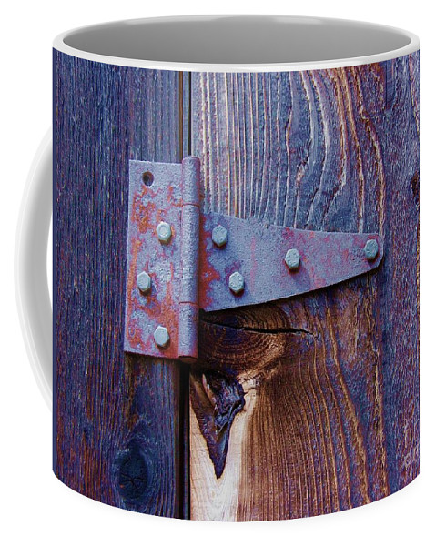 Hinge Coffee Mug featuring the photograph Hinged by Debbi Granruth