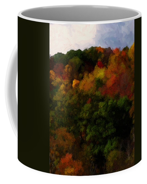 Fall Coffee Mug featuring the painting Hint Of Fall Color Painting by Teresa Mucha