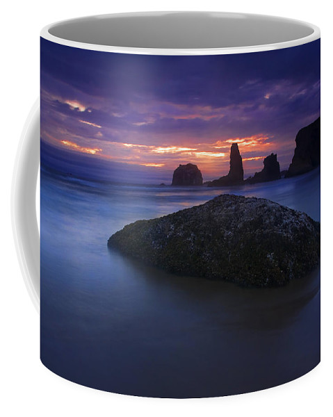 Sunset Coffee Mug featuring the photograph Hint Of Light by Mike Dawson